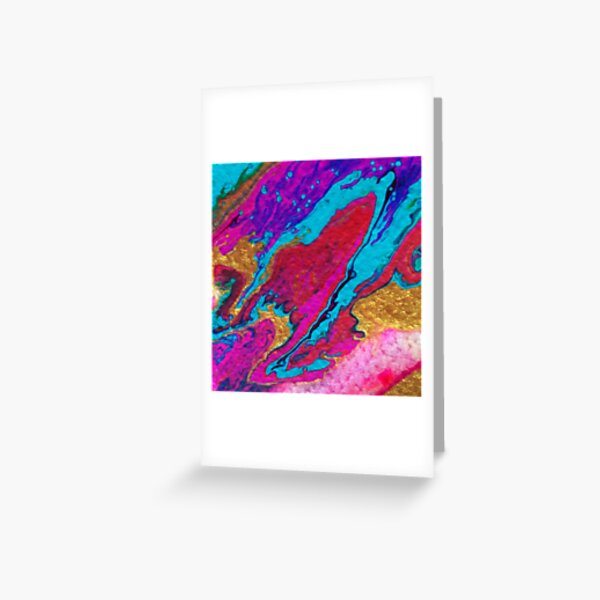 FLOW FAVOURS THE BOLD Greeting Card
