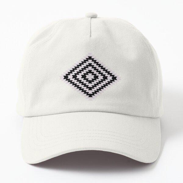 Modern Kilim - black and white Dad Hat