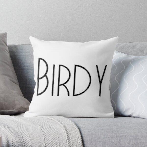 Birdy black Throw Pillow
