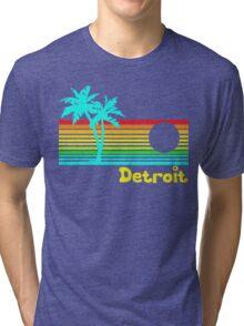 Tropical Detroit (funny vintage design) Tri-blend T-Shirt