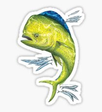 Mahi Mahi and baitfish Sticker