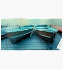 Row Boats At Pyramid Lake Poster
