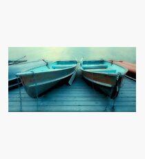 Row Boats At Pyramid Lake Photographic Print