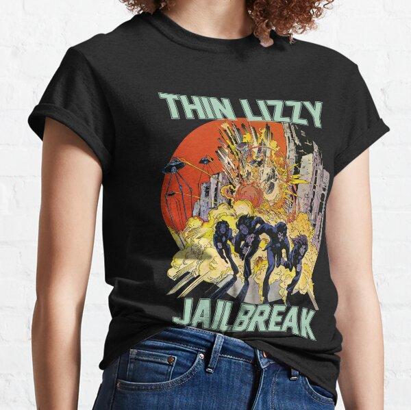 Thin Lizzy Jailbreak Explosion Vintage Black Print T Shirt Classic T-Shirt