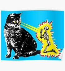 What your cat is really thinking, cat death ray Poster