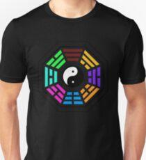 Yin yang coloured  Unisex T-Shirt