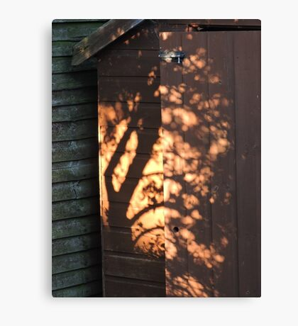 Shadows On The Shed Canvas Print
