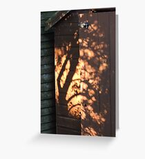 Shadows On The Shed Greeting Card