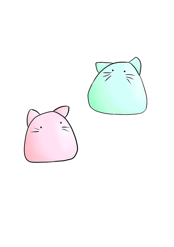 Puff cats by ria-draws