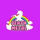 DEATH metal parody funny unicorn rainbow  by daizzy