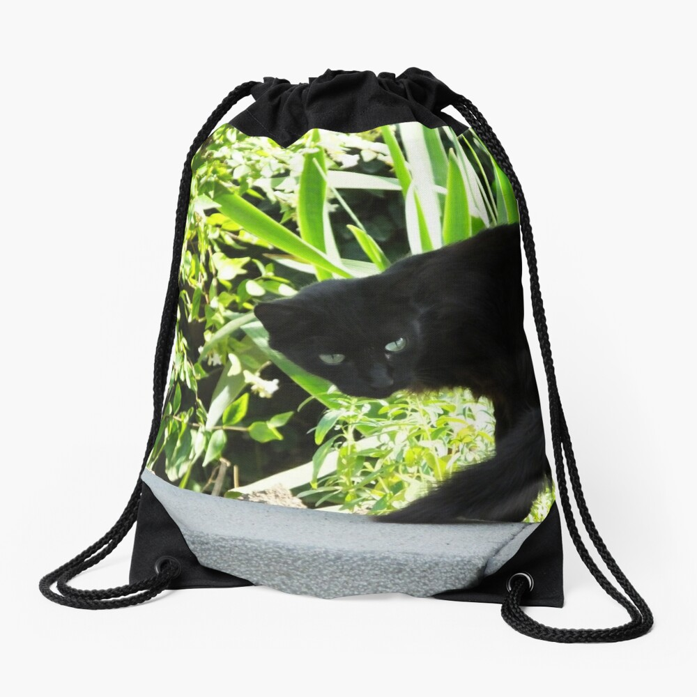 Green eyes Drawstring Bag