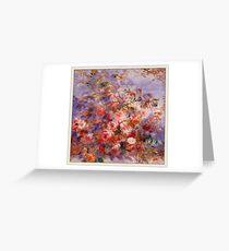 Renoir Auguste - Roses By The Window Greeting Card