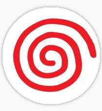Dreamcast Swirl Sticker Sticker