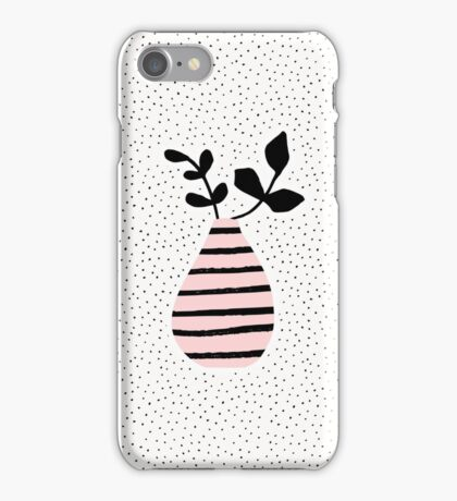 Pink Stripes and Branches iPhone Case/Skin