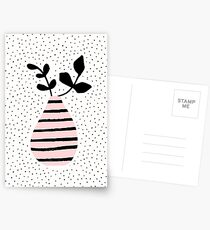Pink Stripes and Branches Postcards