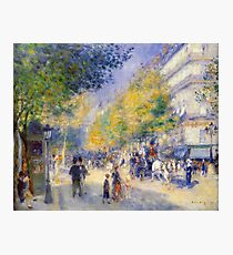 Renoir Auguste - The Great Boulevards 1875 Photographic Print