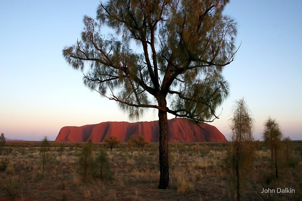 Uluru and the Tree by John Dalkin