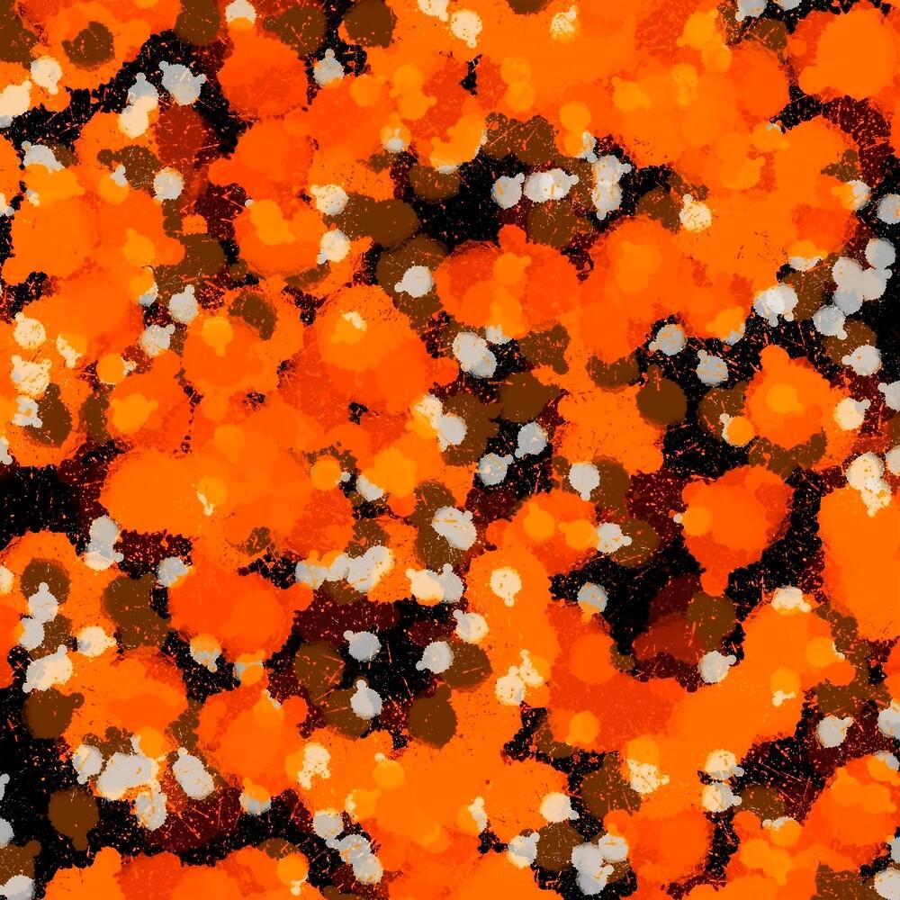 Orange Splatter by Chevoque