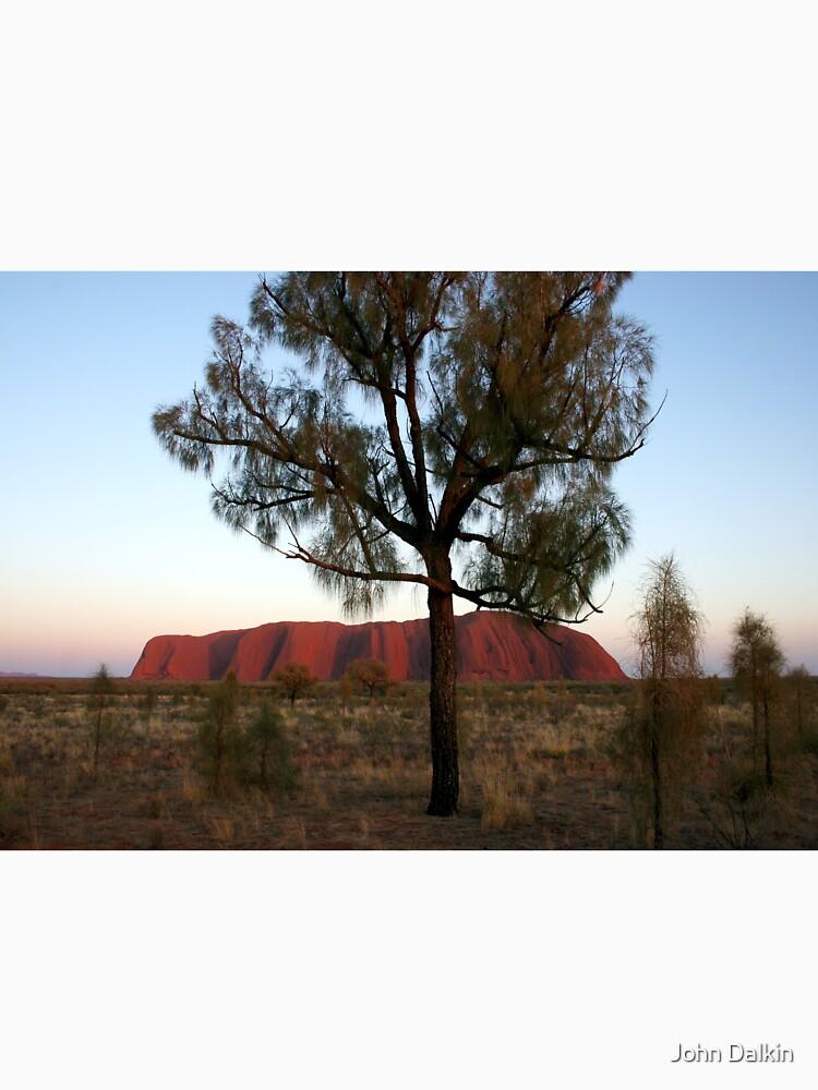 Uluru and the Tree by JohnDalkin
