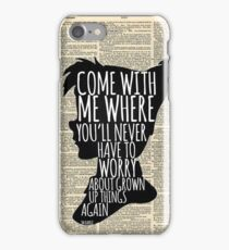Peter Pan Vintage Dictionary Page Style -- Grown Up Things iPhone Case/Skin