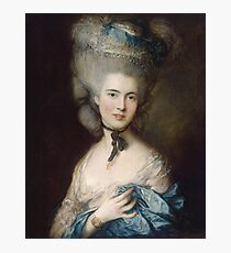 Thomas Gainsborough - Portrait Of A Lady In Blue Photographic Print