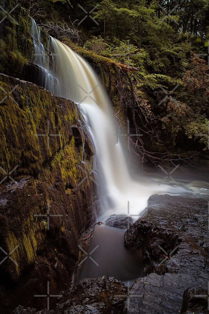 The ledge at Sgwd Clun Gwyn waterfall by Leighton Collins