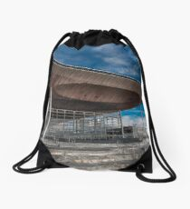 The Senedd National Assembly building Drawstring Bag