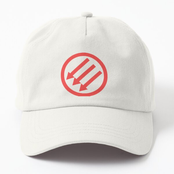Three Arrows [Antifa] [Iron Front] Red Dad Hat