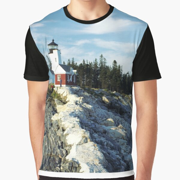 Pemaquid Point Lighthouse, Maine Graphic T-Shirt