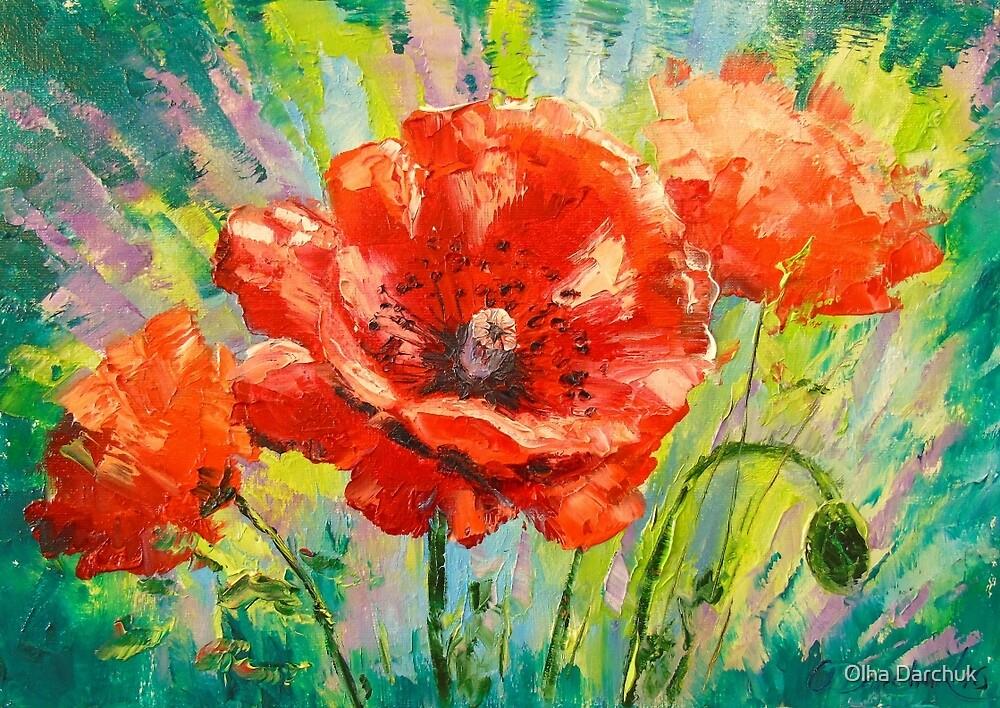 Blooming poppies by Olyha
