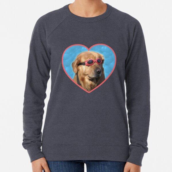 Pegatinas Doggo: Perro Nadador Sudadera ligera