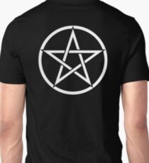 Pentacle, Witch, Modern Pagan, WICCA, Witchcraft, religion, White on Black Unisex T-Shirt