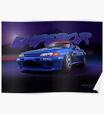 """R32GTR - Calsonic """"EMPEROR"""" Poster"""