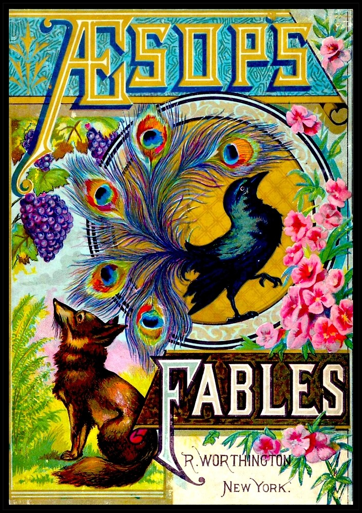 AESOPS FABLES; Vintage Fairy Tale Adverising Print by posterbobs