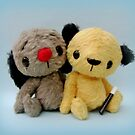 Handmade bears from Teddy Bear Orphans - Sooty and Sweep by Penny Bonser
