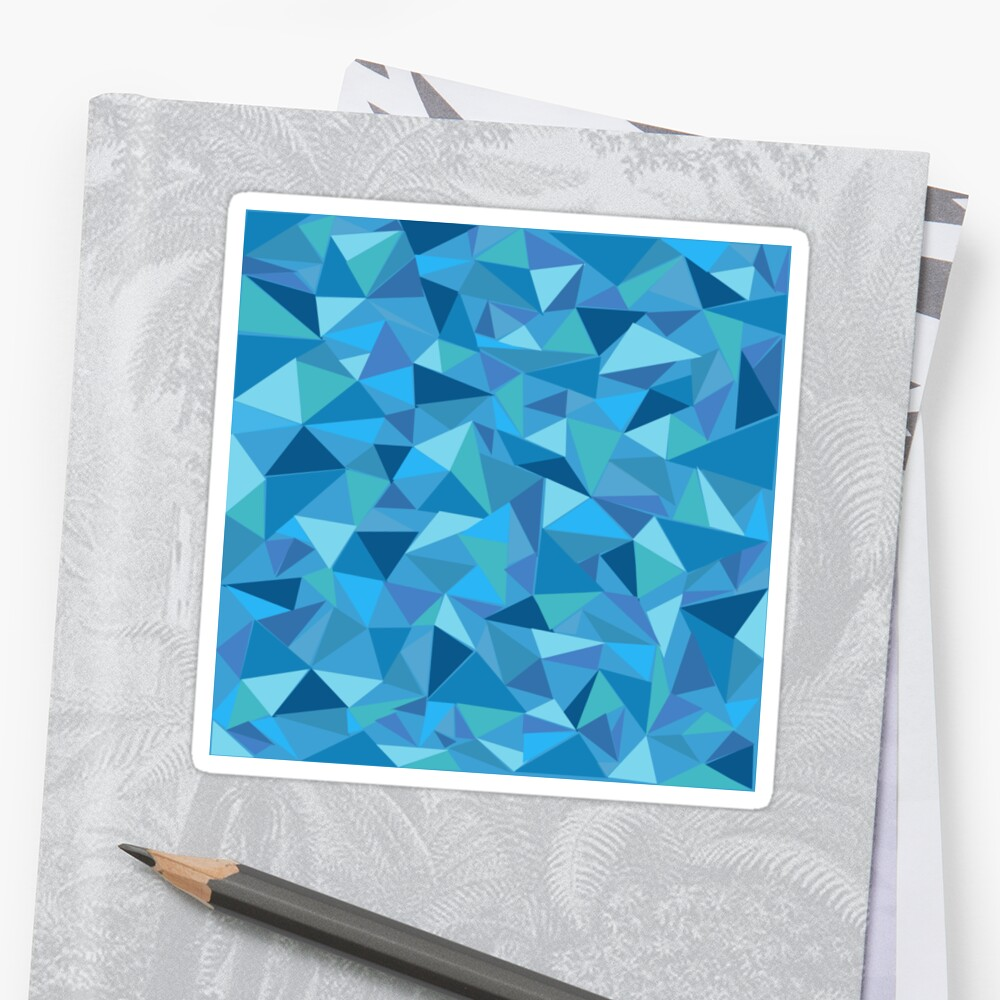Blue Geometric by marisadesigns
