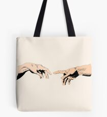 The Creation of Adam - Comic Book, Color. Tote Bag