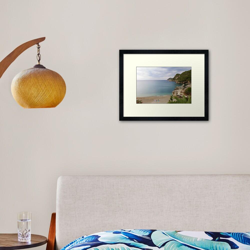 Liapades Beach, Corfu Island, Greece Framed Art Print