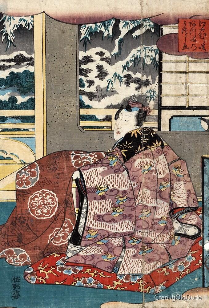 An eastern view of purple-tinted Edomurasaki - Toyokuni Utagawa - 1844 by CrankyOldDude