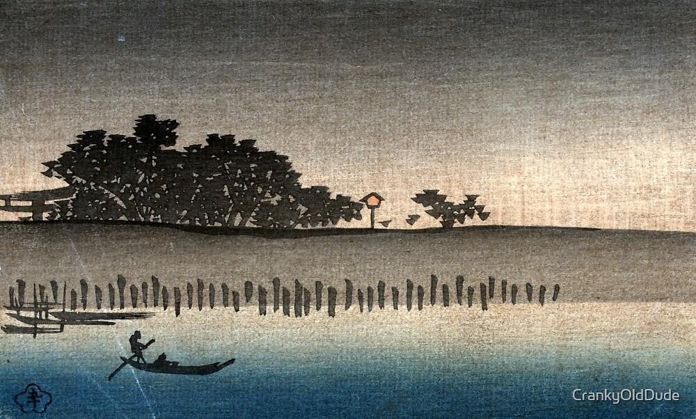 An evening view of Mimeguri - Anon - 1890 by CrankyOldDude