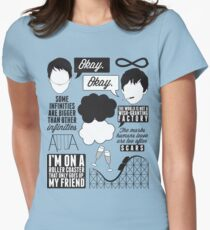 The Fault In Our Stars Collage Women's Fitted T-Shirt