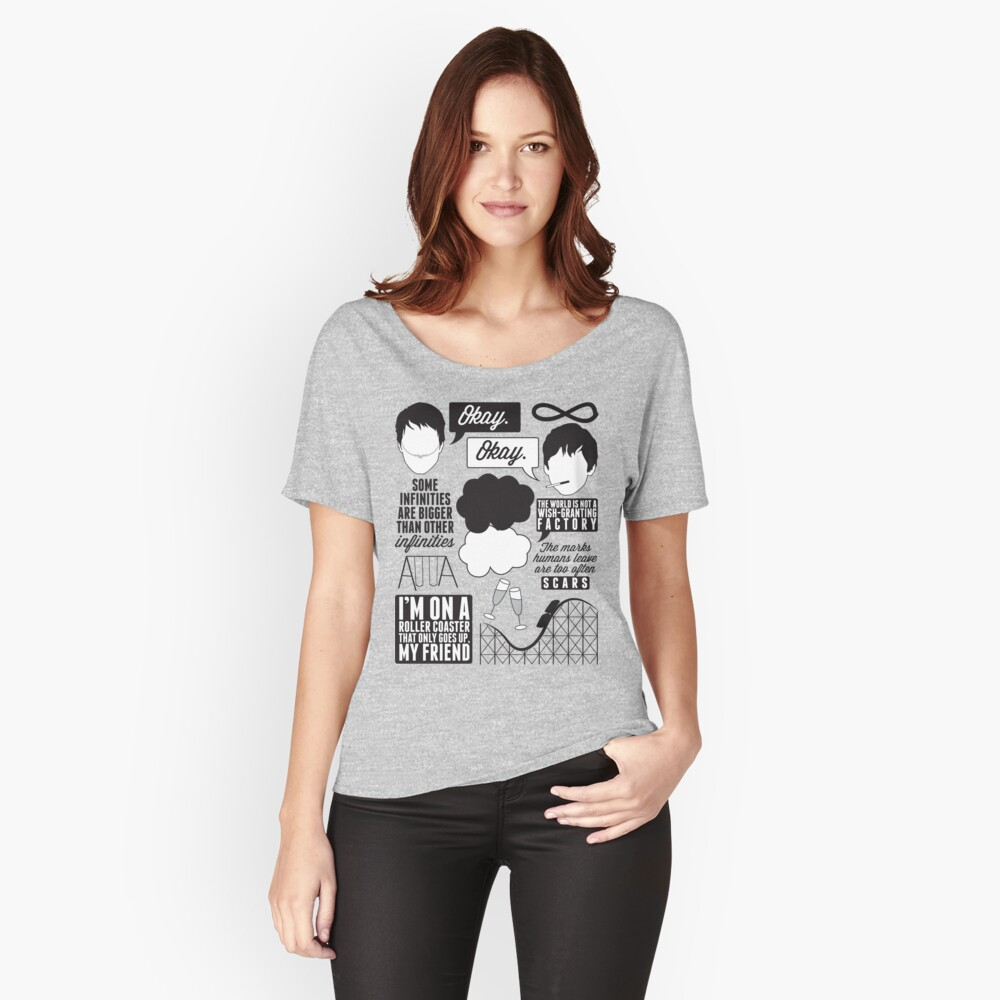 The Fault In Our Stars Collage Relaxed Fit T-Shirt