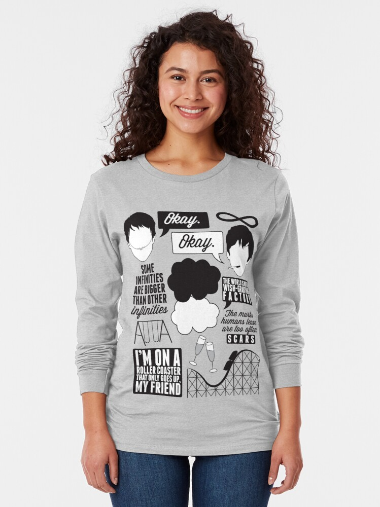 Alternate view of The Fault In Our Stars Collage Long Sleeve T-Shirt