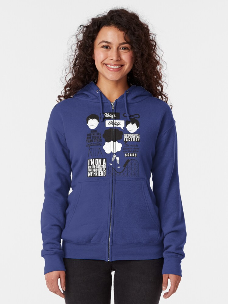 Alternate view of The Fault In Our Stars Collage Zipped Hoodie