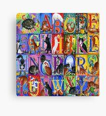 Cats Alphabet Canvas Print