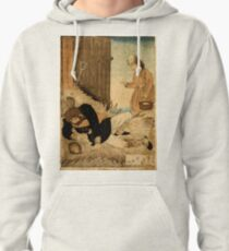 Anonymous - A Girls Kindness Sometimes Surpasses A Gentlemans - Circa 1875 - Woodcut Pullover Hoodie