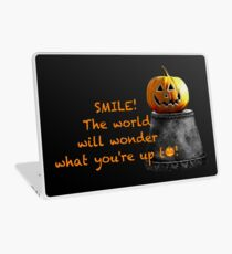 Smile, and the world will wonder what you're up to! Laptop Skin