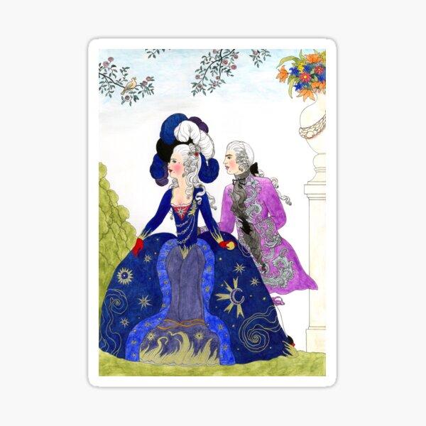 Rococo scene no. 1 Sticker