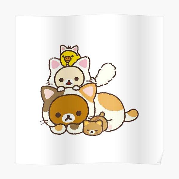 Rilakkuma cat Poster