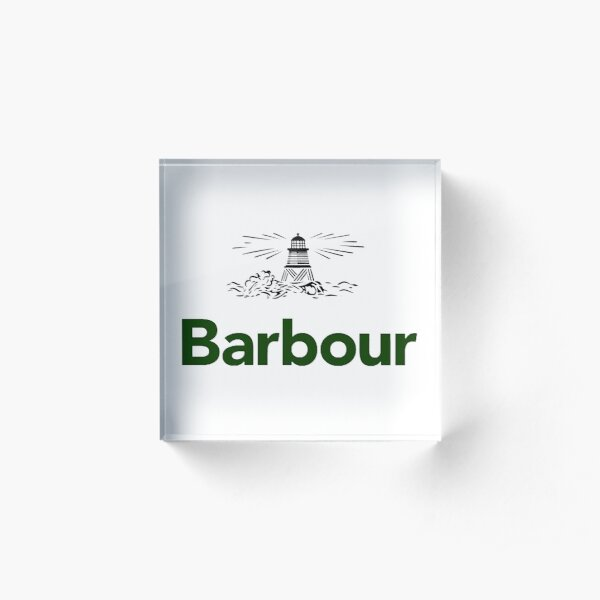Barbour and Sons Retail & Clothing Acrylic Block